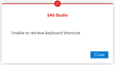 Unable to retrieve keyboard shortcuts
